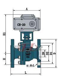 Q941电动法兰球阀 (配CHR)